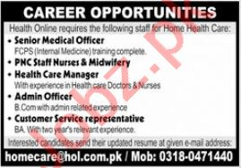 Medical Staff Jobs 2021 For Home Health Care In Lahore