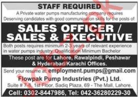Flowpak Pump Industries Pvt Ltd Jobs 2021 For Sales Staff