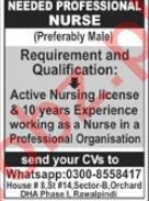 Professional Nurse Jobs 2021 in Rawalpindi