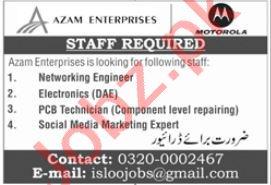 Azam Enterprise Jobs 2021 in Islamabad