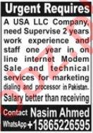 USA LLC Company Jobs 2021 In Lahore