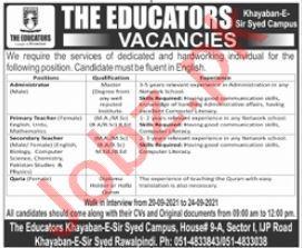 The Educators School System Jobs 2021 in Rawalpindi