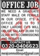 Office Staff Jobs 2021 In Lahore