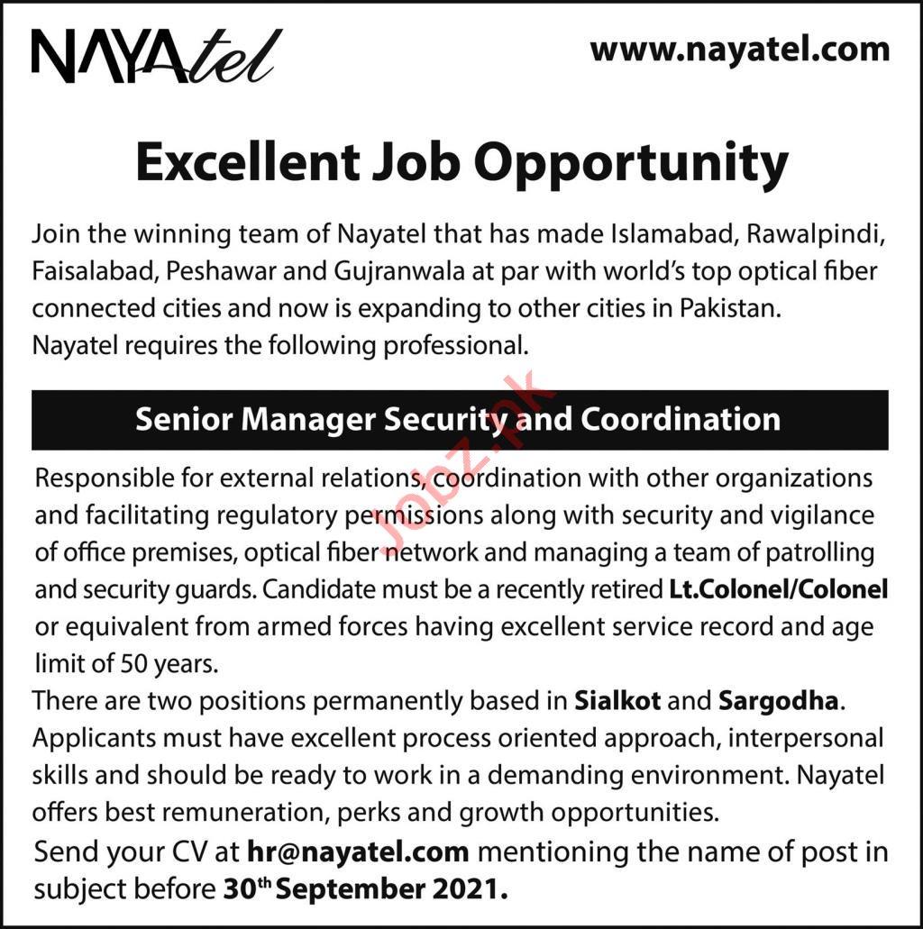Nayatel Private Limited Jobs 2021