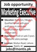 Marketing Executive Job 2021 In Lahore