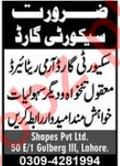 Security Staff Jobs 2021 In Lahore