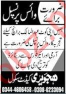 Hajvery Cadet School Job 2021 For Vice Principal In Lahore