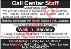 Call Center Staff Jobs 2021 In Lahore