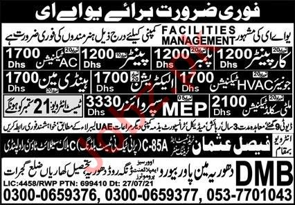 Facilities Management Company Technical Staff Jobs 2021