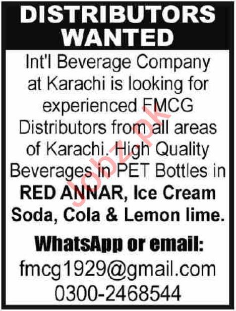 Distributor Jobs in Karachi