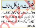 Nawaiwaqt Sunday Classified Ads 19 Sep 2021 for Medical
