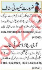 Nawaiwaqt Sunday Classified Ads 19 Sep 2021 Security Staff