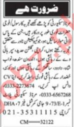 Nawaiwaqt Sunday Classified Ads 19 Sep 2021 for Security
