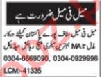 Nawaiwaqt Sunday Classified Ads 19 Sep 2021 Computer Staff