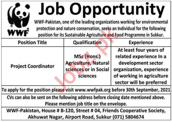 WWF Pakistan Jobs iN Sukkur