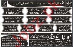 Shawl Operator & Diesel Mechanic Jobs 2021 Saudi Arabia