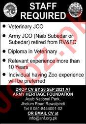 Army Heritage Foundation AHF Rawalpindi Jobs 2021
