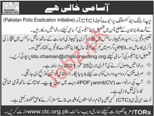 Pakistan Polio Eradication Initiative CTC Balochistan Jobs