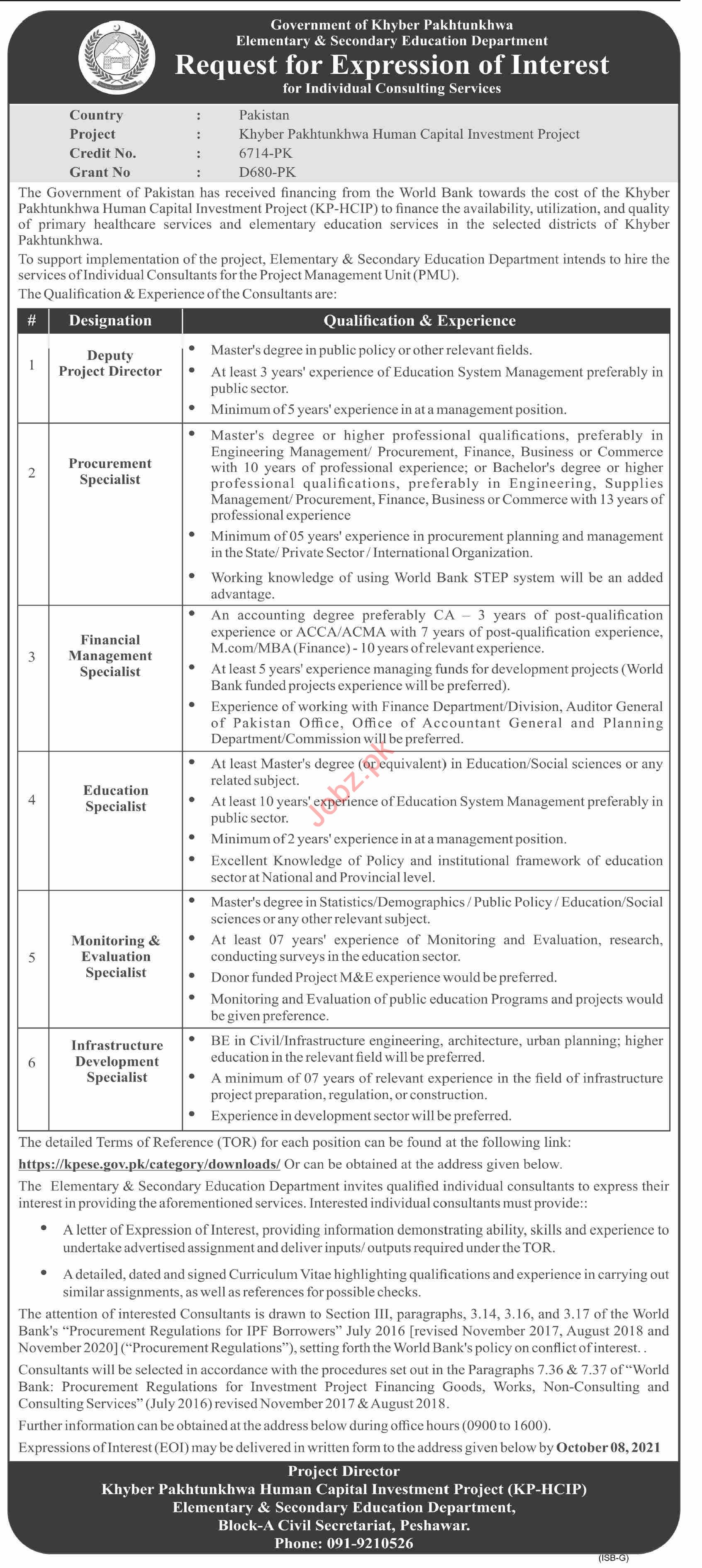 Elementary and Secondary Education Department ESED Jobs 2021