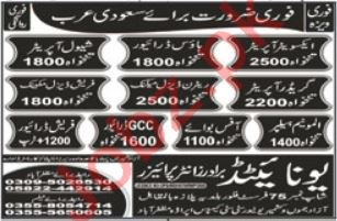 Grader Operator & Shawl Operator Jobs 2021 in Saudi Arabia