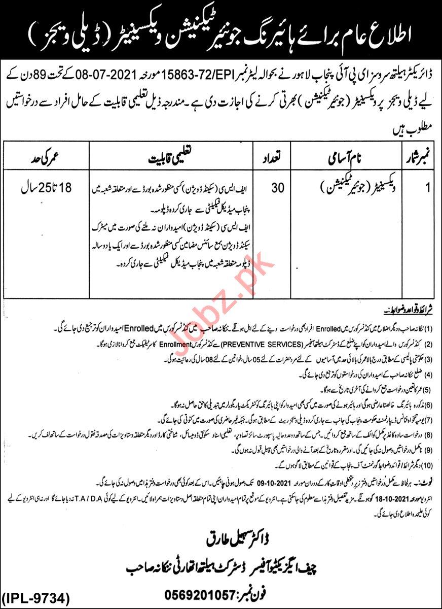 District Health Authority DHA Nankana Sahib Jobs 2021
