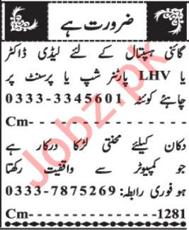 Lady Doctor & LHV Jobs 2021 in Quetta