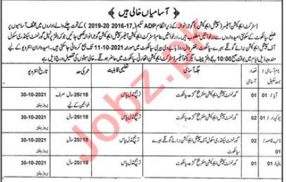 District Education Officer Sialkot Jobs 2021