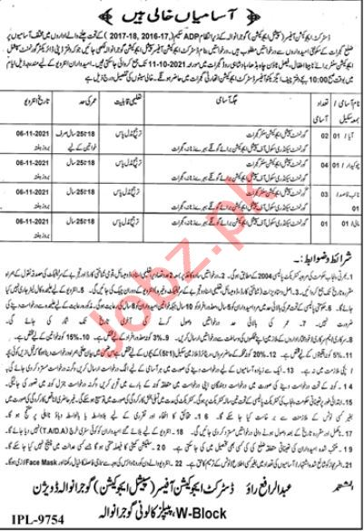 Government Special Education Centre Gujrat Jobs 2021
