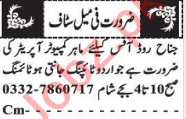 Computer Operator & Typist Jobs 2021 in Quetta