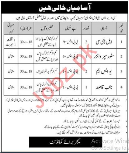 Pakistan Army CASD EME Rawalpindi Jobs 2021 for LDC