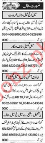 Imports Executive & Quantity Surveyor Jobs 2021 in Lahore