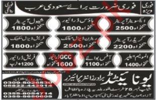 Shawl Operator & House Driver Jobs 2021 in Saudi Arabia