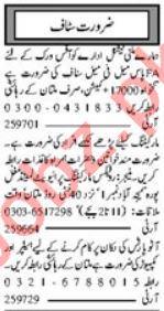 HR Officer & Sales Manager Jobs 2021 in Multan