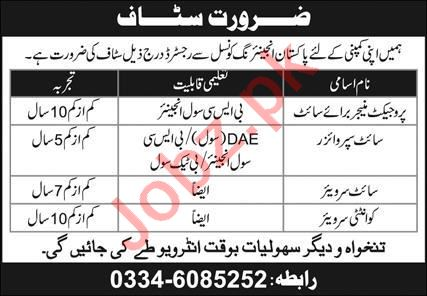 Project Manager & Site Supervisor Jobs 2021 in Lahore