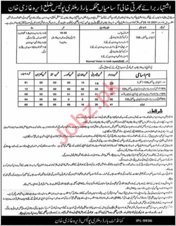 Border Military Police Dera Ghazi Khan Jobs 2021