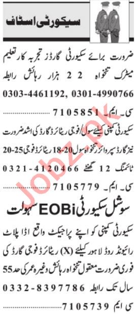 Security Supervisor & Security Manager Jobs 2021 in Lahore