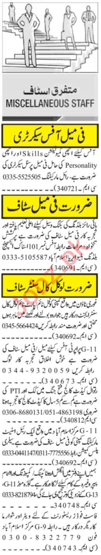 Female Office Secretary & Call Center Agent Jobs 2021
