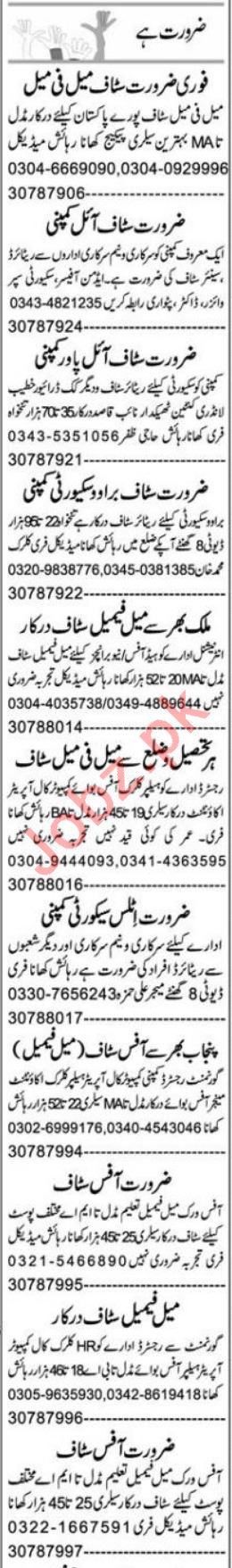 Office Assistant & Purchase Assistant Jobs 2021 in Multan
