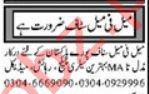 Graphic Designer & Accountant Jobs 2021 in Multan