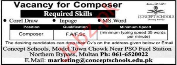 Concept School Multan Jobs 2021