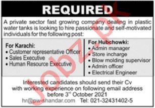 Private Sector Company Jobs 2021 In Karachi
