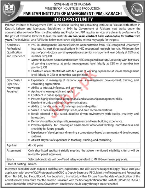 Pakistan Institute of Management Job 2021 In Karachi