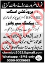Packing Supervisor & Production Staff Jobs 2021 In Karachi