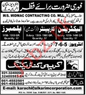 Karimi Contracting Company Qatar Jobs 2021