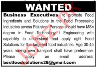 Business Executive Jobs 2021 in Rawalpindi