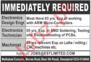 Engineering Staff Jobs 2021 in Rawalpindi