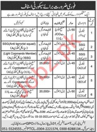 Security Staff Jobs 2021 in Rawalpindi