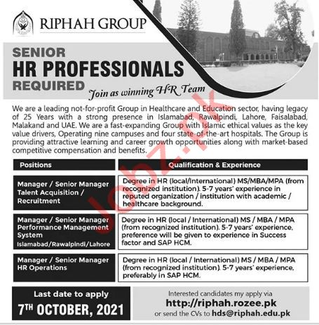 Management Jobs in Riphah International College