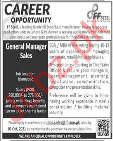 General Manager Sales Jobs in FF Steel Manufacturing Company