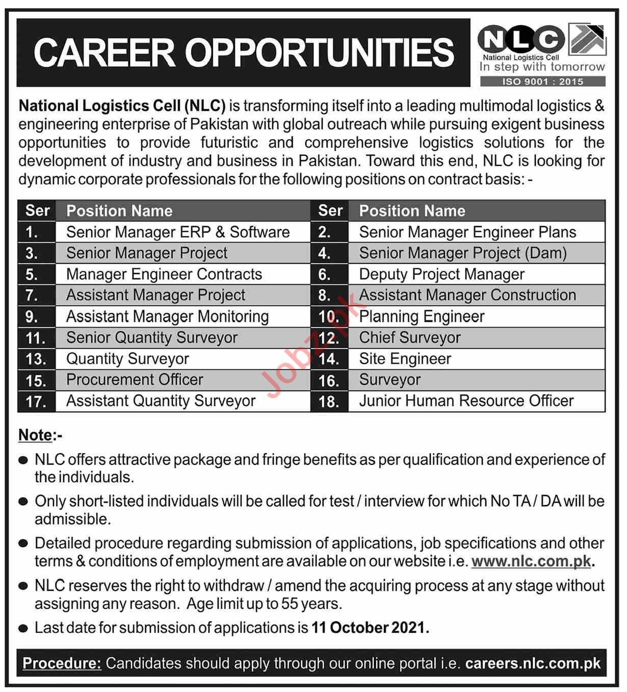 NLC Management jobs 2021